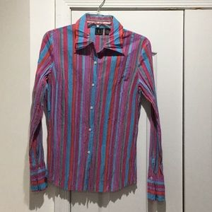 Inc multi colored 12 blouse worn once